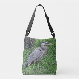 Photographic Art Great Blue Heron Crossbody Bag