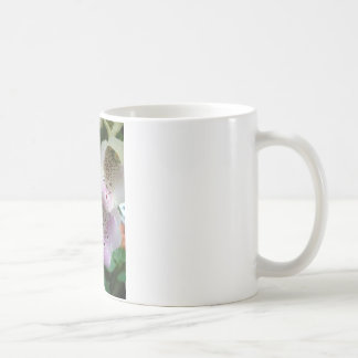 Photographic close-up of a foxglove coffee mug