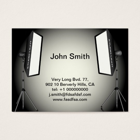 Photographic Lights Business Card
