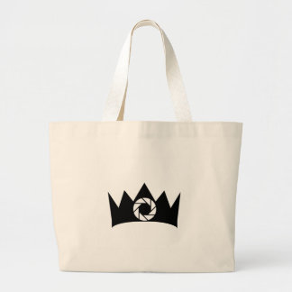 Photography aperture on a crown tote bags