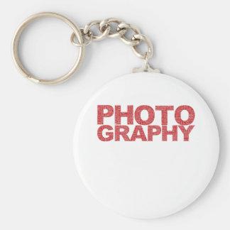 Photography Basic Round Button Key Ring