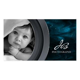 Photography Business Card Black Blue Star Sky