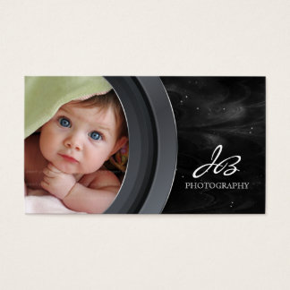 Photography Business Card Black Star Sky