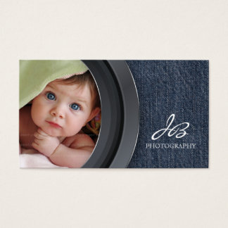 Photography Business Card Denim Photo Template