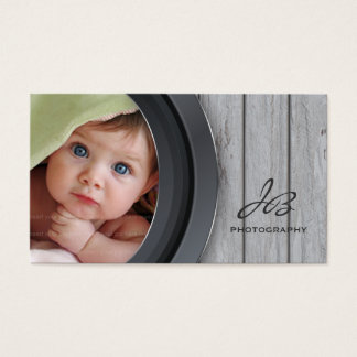 Photography Business Card Wood Photo Template