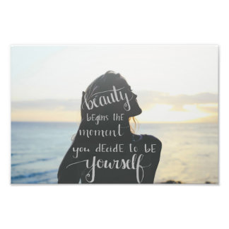 Photography & Calligraphy Quote Photo Print