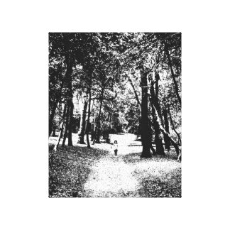 Photography canvas ghostly girl figure in forest canvas print