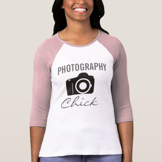 Photography Chick 3/4 Sleeve Raglan (Fitted) T-Shirt