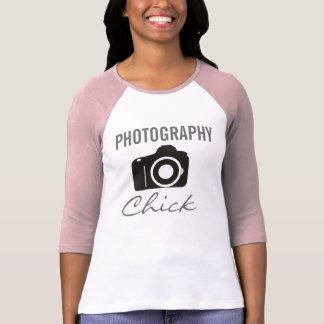 Photography Chick 3/4 Sleeve Raglan (Fitted) Tshirt