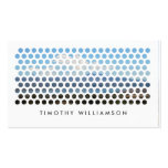 PHOTOGRAPHY CIRCLES PATTERN in WHITE (Horizontal) Business Card Template