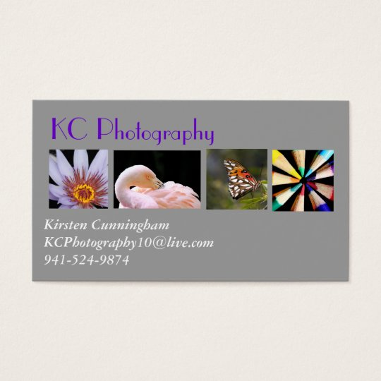 Photography Collage Business Card