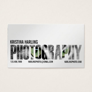 Photography Cutout - White Business Card