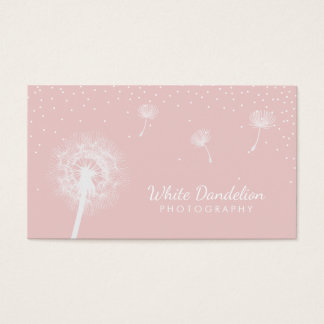 Photography Dandelion Blowing Girly Photographer Business Card