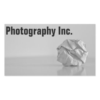 Photography Display Business Card Template