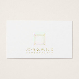 Photography Elegant Gold Look Photographer Business Card
