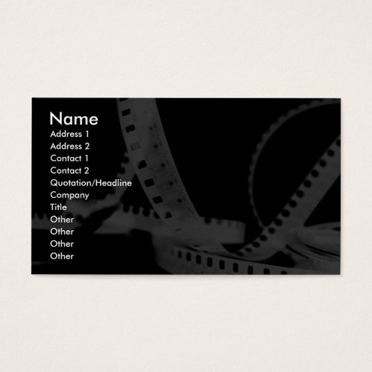 Photography, Flim, Entertainment Business Card