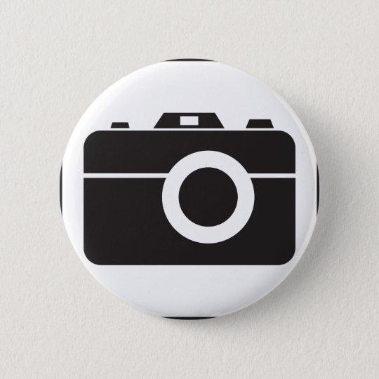 Photography icon 6 cm round badge