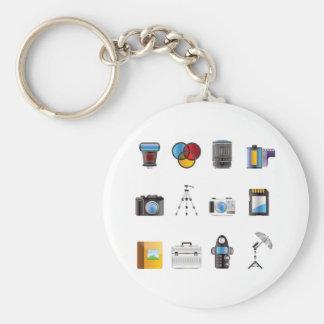 Photography Icon Basic Round Button Key Ring