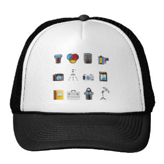 Photography Icon Mesh Hats