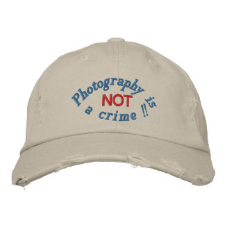 Photography is not a crime _Curved Embroidered Baseball Cap