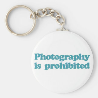 Photography is Prohibited Basic Round Button Key Ring
