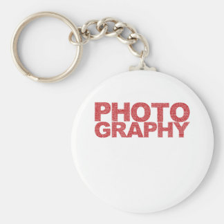 Photography Basic Round Button Key Ring
