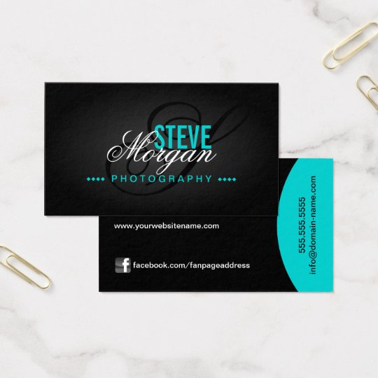 Photography Monogram Business Card