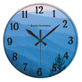 Photography Newfound Gap Smoky Mountain Sunrise Large Clock