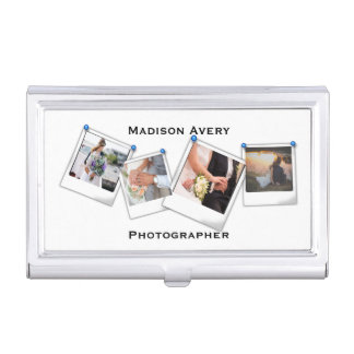 Photography Photographer Minimal Professional Business Card Holder