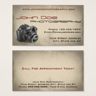 Photography Photographer Photo Business Card