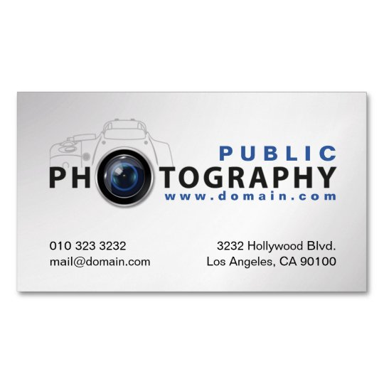 Photography Photographers Camera Lens Magnetic Business Card