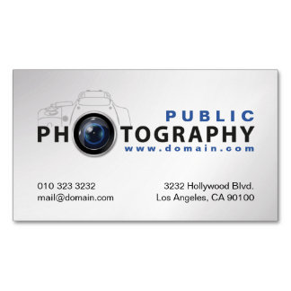 Photography Photographers Camera Lens Magnetic Business Cards