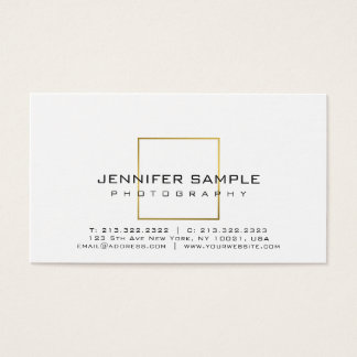 Photography Plain Elegant Gold Look Photographer Business Card