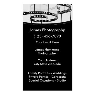 Photography Services Pack Of Standard Business Cards