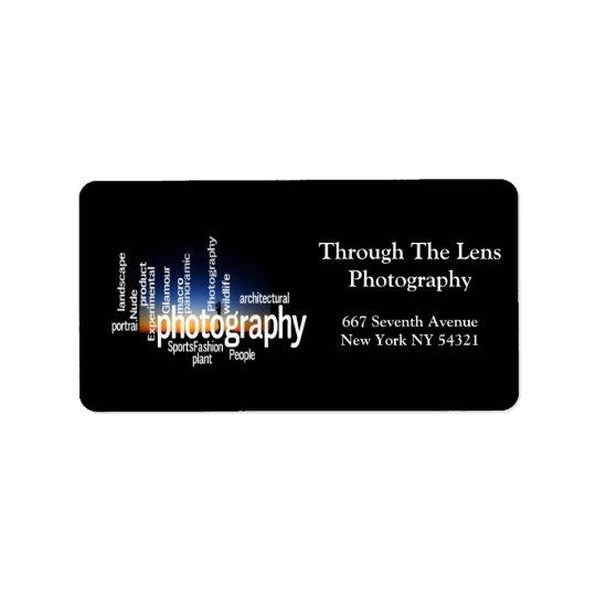 Photography Typography Sunrise Photographer Address Label