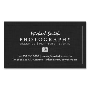 Embossed business cards zazzle uk photography wedding portrait elegant embossed look magnetic business card reheart Choice Image