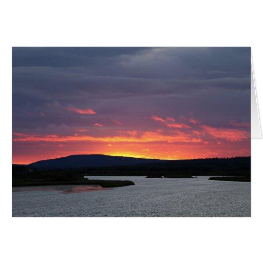 Photomap evening tendency at the Ounasjoki Card