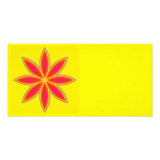 "Photomap ""flower power "" customised photo card"
