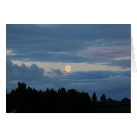 Photomap moon in Rovaniemi Card