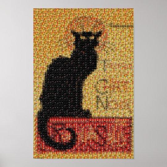 photomosaic-Tournée du Chat Noir Poster