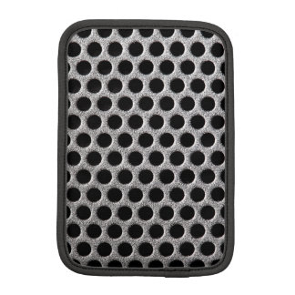 Photorealistic metal grill dot pattern close up iPad mini sleeves