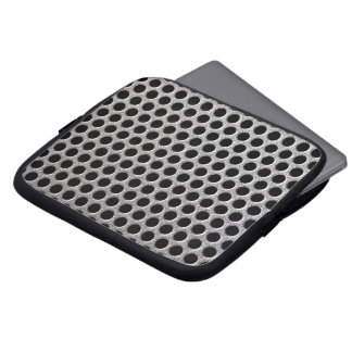 Photorealistic metal grill dot pattern close up laptop sleeve
