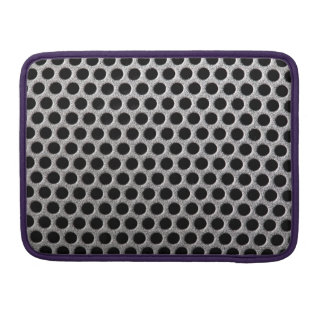 Photorealistic metal grill dot pattern close up sleeve for MacBook pro