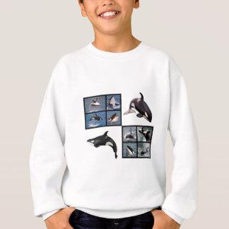 Photos mosaic of killer whales sweatshirt
