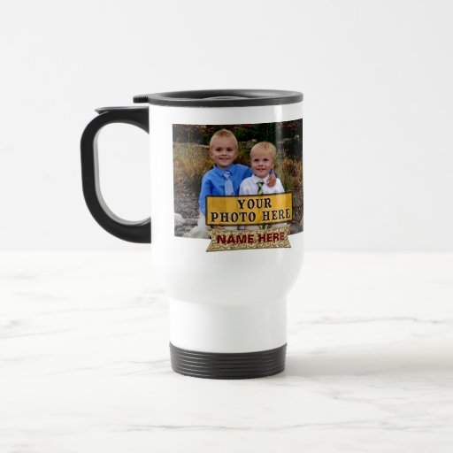PHOTOS NAMES Personalised Photo Coffee Travel Mugs | Zazzle