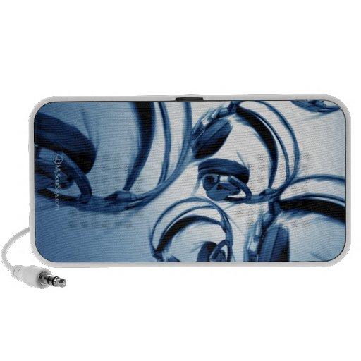 Photoshop Painting (Headphones-Blue) iPod Speakers