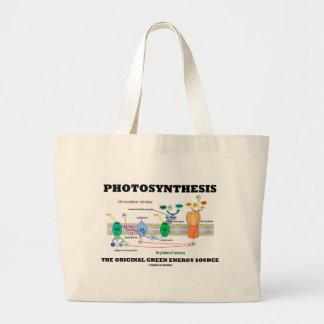Photosynthesis The Original Green Energy Source Jumbo Tote Bag