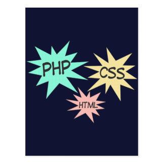 PHP CSS HTML POSTCARD