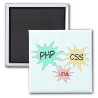 PHP CSS HTML SQUARE MAGNET