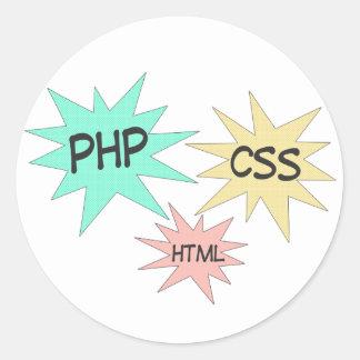 PHP CSS HTML ROUND STICKER